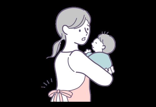 家事・育児などによる肩こり・腰痛に