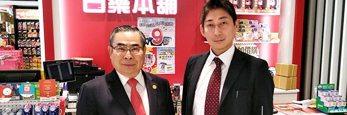 海外販売先を訪れた代表取締役の写真